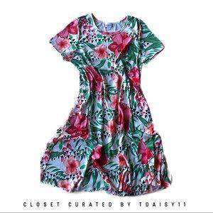 LuLaRoe | XL Floral Jessie Dress